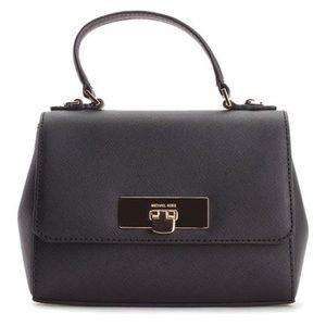 Callie Black Leather Cross Body Bag